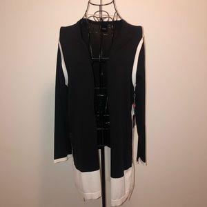 Rafaella- Black & White cardigan